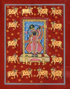 Shreenathji with Golden Cows